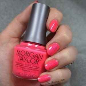 The Fancy Side - Neon Pink Nail Art